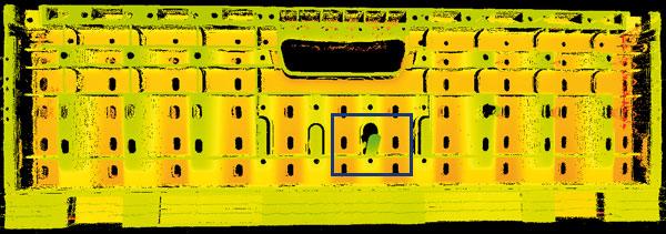 Inspektion 3D-Bild eines Mehrwegbehälters