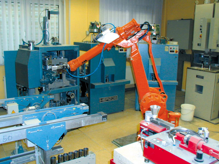 Automated sample handling in a cement laboratory