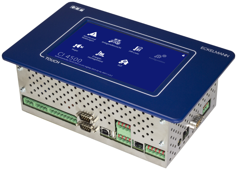The CI 4x00 provides a variety of interfaces and has network capability (from CI 4400).