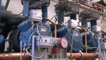 Refrigeration pack with three compressors