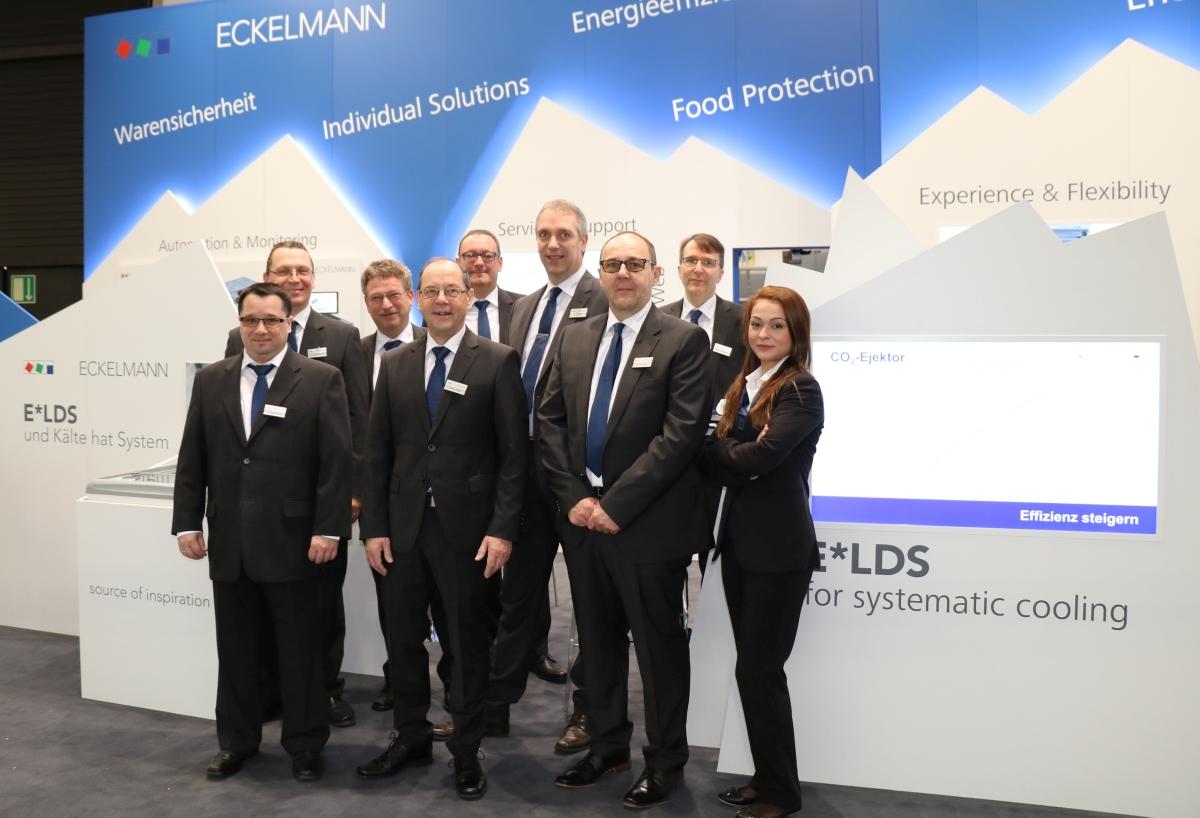 Messeteam der Eckelmann AG auf der EuroShop 2017