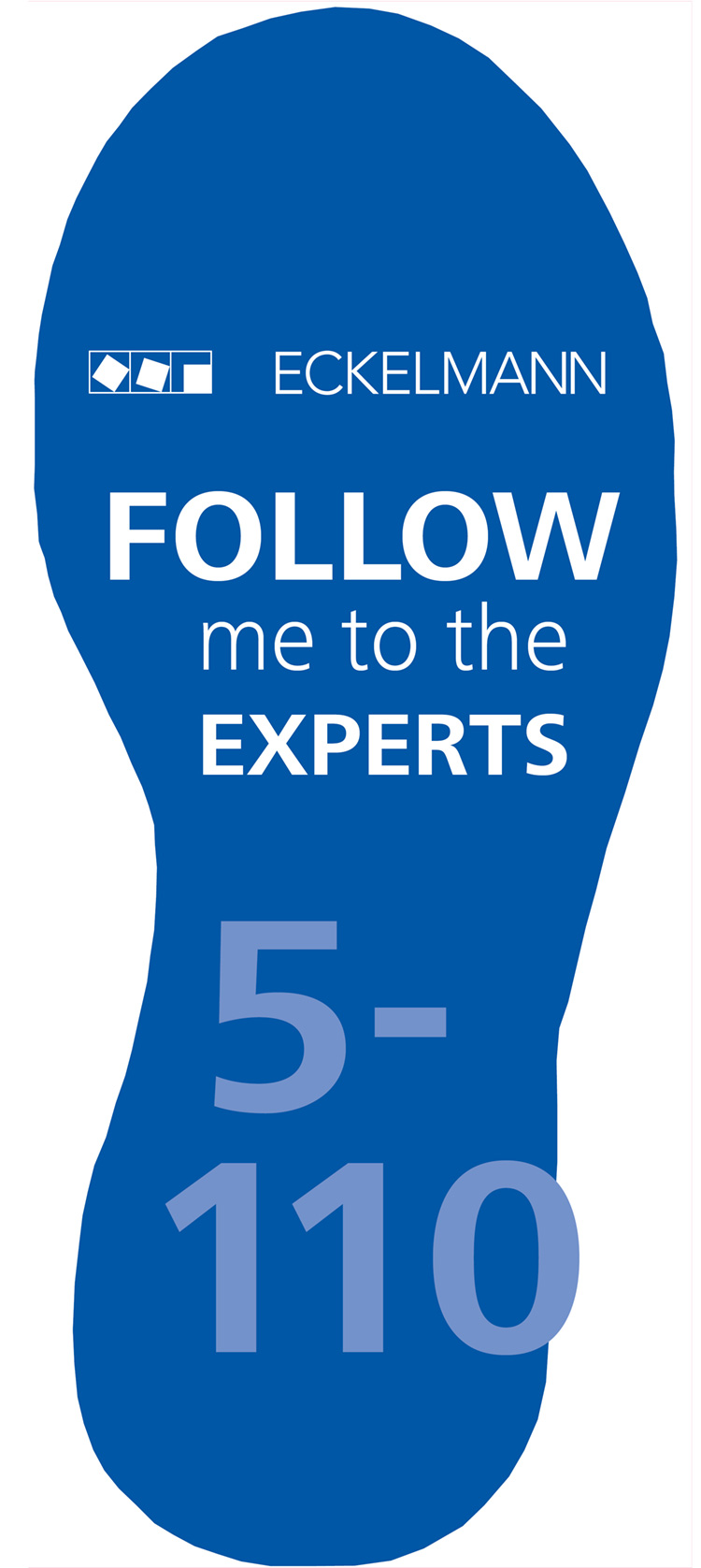 """[Translate to """"Englisch""""] Fußspur: Follow me to the experts, Chillventa 2018, Halle 5, Stand 5-110"""