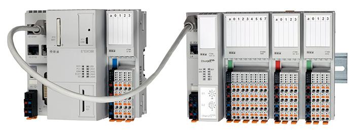 Das Realtime-I/O-System E°XBM ist perfekt auf die neueste Steuerungsgeneration E°EXC 88 abgestimmt.