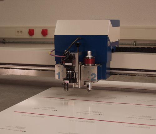 Lageerkennung der Kartonage in einer Laserschneidanlage